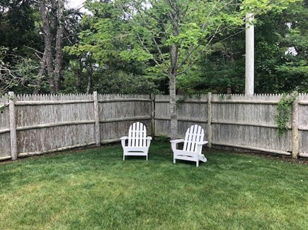 Dennis Port Cape Cod vacation rental - Back corner of the yard to relax!