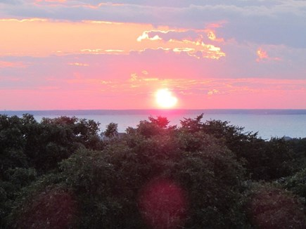 West Falmouth Cape Cod vacation rental - Sunset view from porch