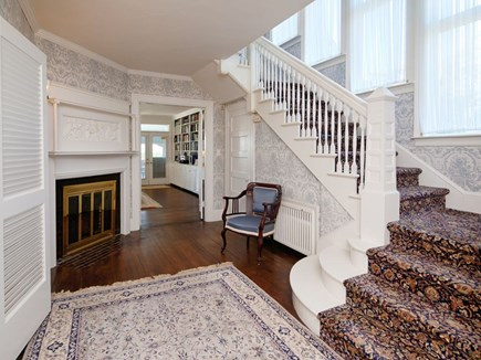 West Falmouth Cape Cod vacation rental - Front hall/ Main stairs