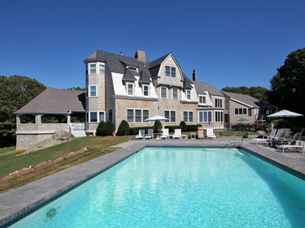 West Falmouth Cape Cod vacation rental - In ground pool and deck area