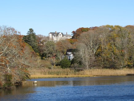 West Falmouth Cape Cod vacation rental - View of house from shining sea bike path