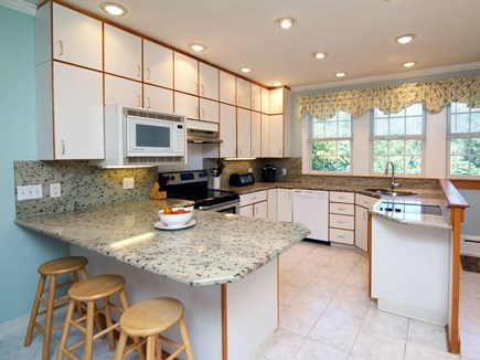 West Falmouth Cape Cod vacation rental - Large eat in kitchen, granite counter tops