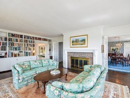 West Falmouth Cape Cod vacation rental - Living Room with Library