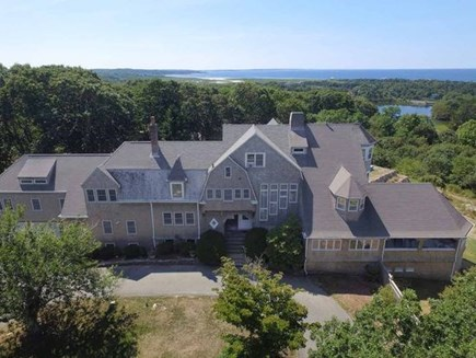 West Falmouth Cape Cod vacation rental - Aerial View of Home and Buzzards Bay