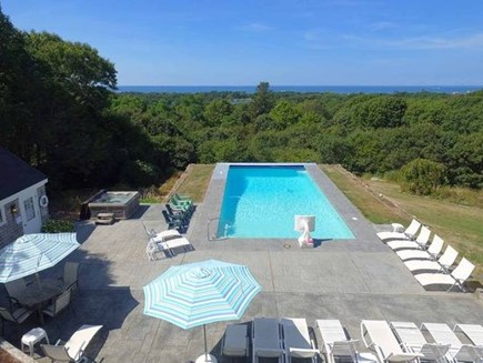 West Falmouth Cape Cod vacation rental - Pool and Deck Area, hot tub on left of pool