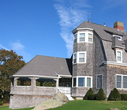 West Falmouth Cape Cod vacation rental - Back of House Showing Covered Porch