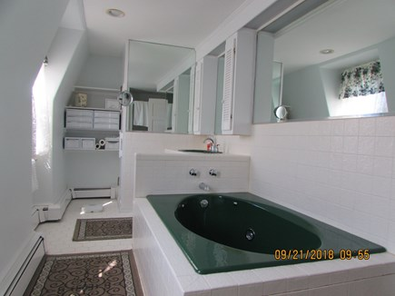 West Falmouth Cape Cod vacation rental - Master bath with sauna,whirlpool tub and shower
