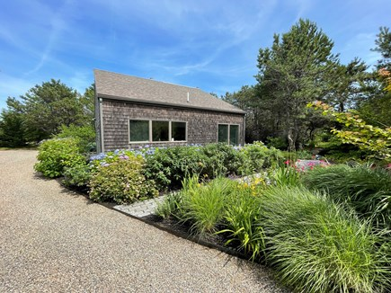 North Truro Cape Cod vacation rental - Your private garden and parking area.