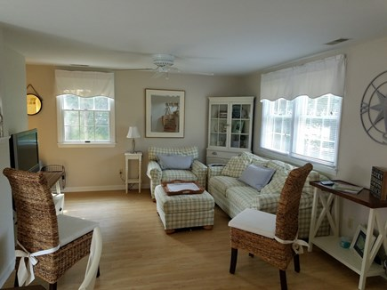 Harwichport, Red River Beach Cape Cod vacation rental - Living room with cable tv, dvd player and internet