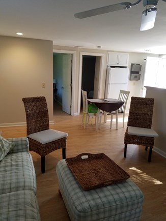 Harwichport, Red River Beach Cape Cod vacation rental - Living room open to the dining area