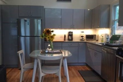 Provincetown, West End Cape Cod vacation rental - New kitchen with granite counters and stainless steel appliances.