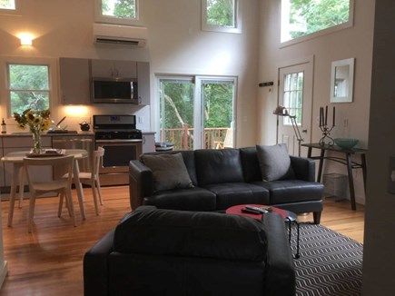 Provincetown, West End Cape Cod vacation rental - Open floor plan with vaulted ceilings and lots of natural light.