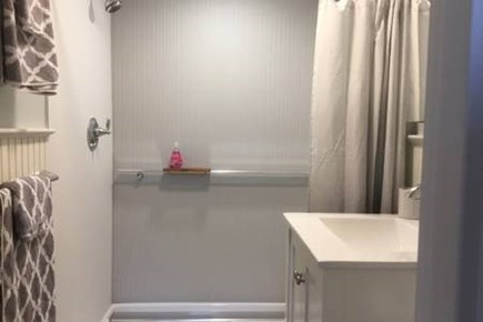 Provincetown, West End Cape Cod vacation rental - New bathroom with extra-large shower.
