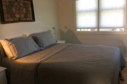 Provincetown, West End Cape Cod vacation rental - Bedroom 1 with queen bed and closet with built in drawers.