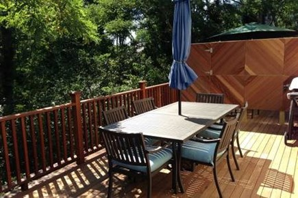 Provincetown, West End Cape Cod vacation rental - Spacious mahogany deck bordered by protected land.