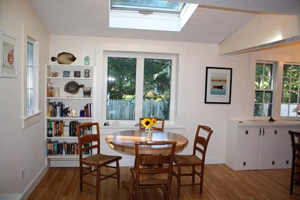 Chatham Cape Cod vacation rental - Bright skylight breakfast nook overlooking bird feeders.