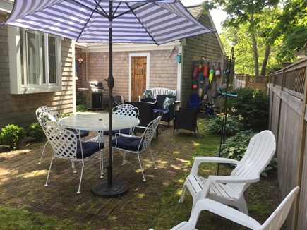 Chatham Cape Cod vacation rental - Private Patio: dining, cocktail, picnic table, grill, H&C shower