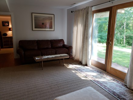 North Chatham Cape Cod vacation rental - Lower level living space with queen sofa bed
