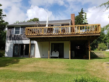North Chatham Cape Cod vacation rental - Great view of deck and walk out/  outdoor shower on left side