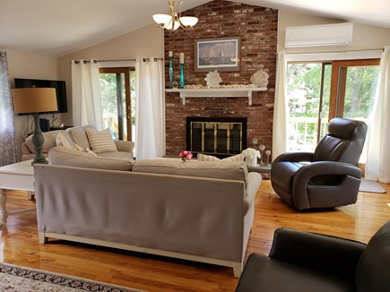 North Chatham Cape Cod vacation rental - Large sunny living room w/ double sliders to a large deck!