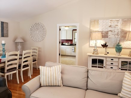 North Chatham Cape Cod vacation rental - Warm and comfortable living and dining w/views of the kitchen