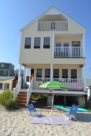 Plymouth, White Horse Beach MA vacation rental - Two level balcony, sandy backyard, ocean views... Steps from sea