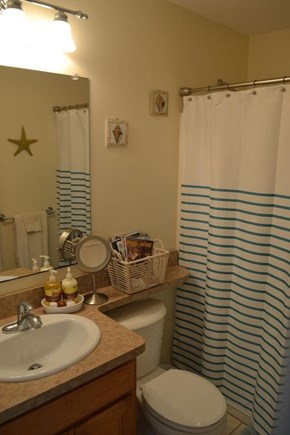 Plymouth, White Horse Beach MA vacation rental - Fully stocked bath with hairdryer, shampoo, soaps, and more.