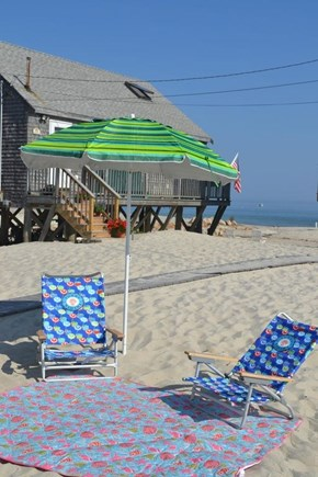 Plymouth, White Horse Beach MA vacation rental - Setup in your private sandy backyard or visit the ocean