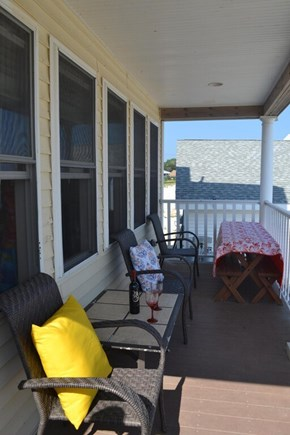 Plymouth, White Horse Beach MA vacation rental - Large back deck, perfect for viewing the ocean and dining.