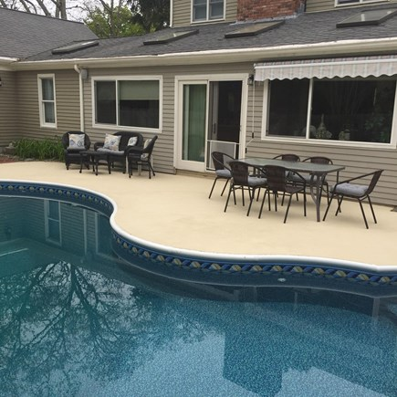 Barnstable, Cotuit Cape Cod vacation rental - Pool patio