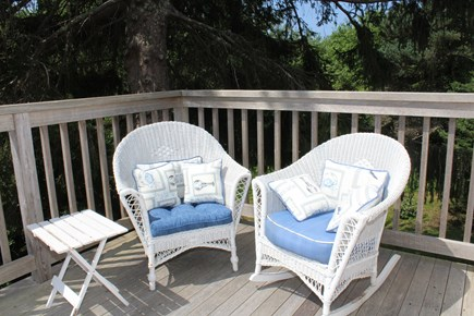 In The Heart of Brewster Cape Cod vacation rental - Balcony off the master bedroom.