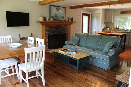 Brewster Cape Cod vacation rental - Comfortable Seating and warm fireplace.