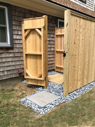 In The Heart of Brewster Cape Cod vacation rental - Spacious Outdoor shower.
