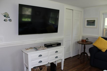 In The Heart of Brewster Cape Cod vacation rental - TV for movies, sports and more. wireless wifi.