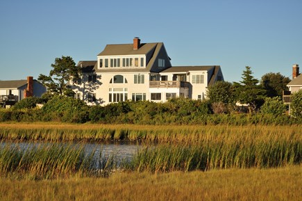 West Hyannisport Cape Cod vacation rental - Back of the house as seen from the little beach