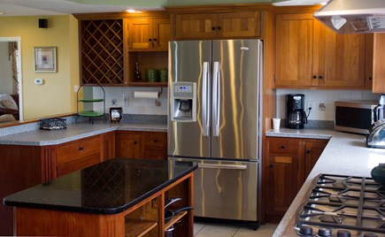 West Hyannisport Cape Cod vacation rental - The kitchen has a double oven and a six burner cooktop