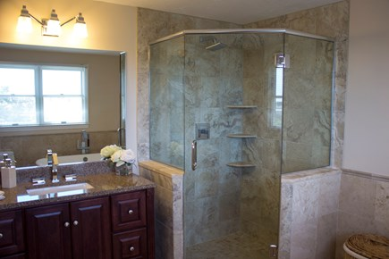 West Hyannisport Cape Cod vacation rental - Master bath has a walk in shower and soaking tub