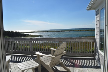West Hyannisport Cape Cod vacation rental - Have a glass of wine on the master bedroom deck.