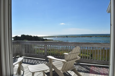 West Hyannisport Cape Cod vacation rental - Enjoy this amazing view of Little Beach from the deck!