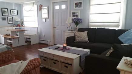 Plymouth MA vacation rental - Living Room - TV & Game Room Table area