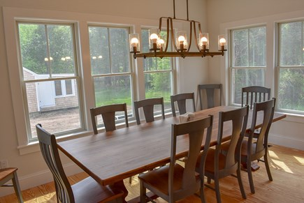 Yarmouthport Cape Cod vacation rental - Farm table in dining room with seating for 10