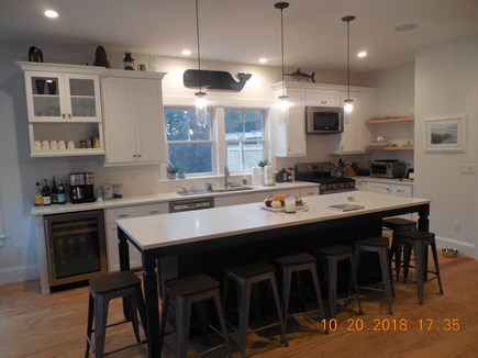 Yarmouthport Cape Cod vacation rental - Well stocked kitchen with additional island seating for 8