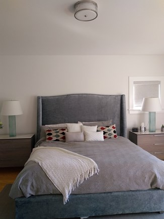 Yarmouthport Cape Cod vacation rental - Downstairs master suite, king bed and desk area, walk in closet