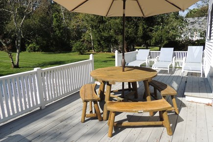 Harwich Port Cape Cod vacation rental - Large 10 x 40 ft. west facing deck