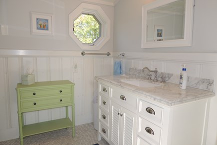 Harwich Port Cape Cod vacation rental - Second floor shared full bath with walk in shower