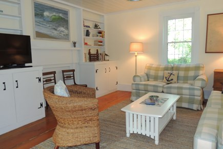 Harwich Port Cape Cod vacation rental - Comfortable living room  with flat screen T.V.