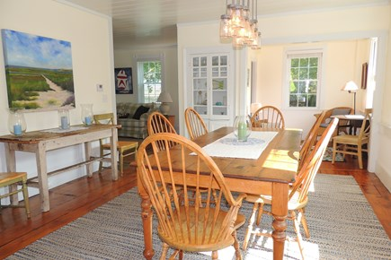 Harwich Port Cape Cod vacation rental - Dining room with farmers table