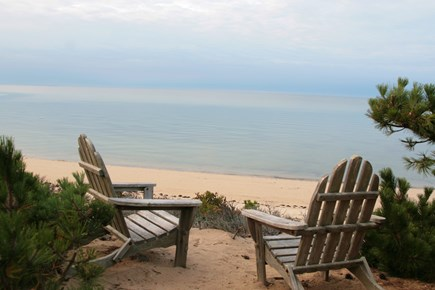 North Truro Cape Cod vacation rental - Chairs with view of private beach