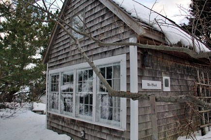 North Truro Cape Cod vacation rental - Shack exterior in winter