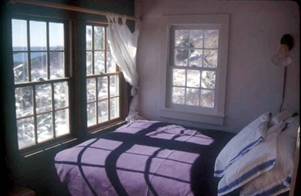 North Truro Cape Cod vacation rental - Double bed looking out onto the ocean